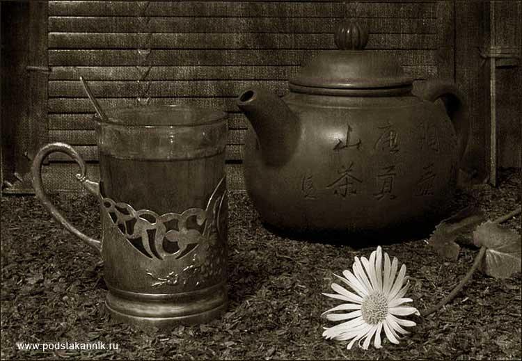 подстаканник ромашка чайник